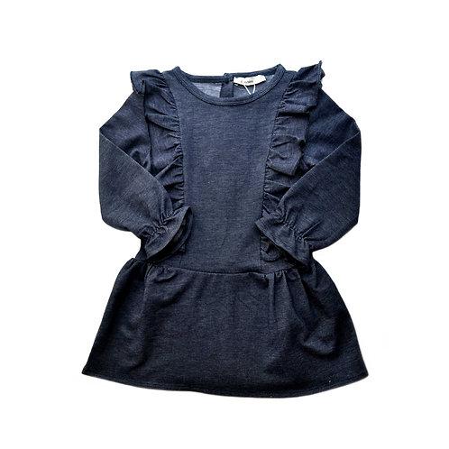 Organic Cotton Denim Toddler Dress
