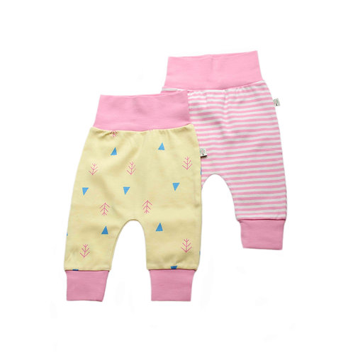 Organic Cotton Baby Pants 2-pack Nature
