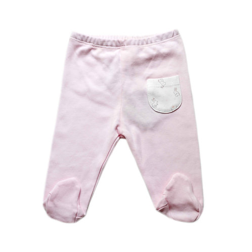 Organic Cotton Footed Baby Pants Bunny Girl