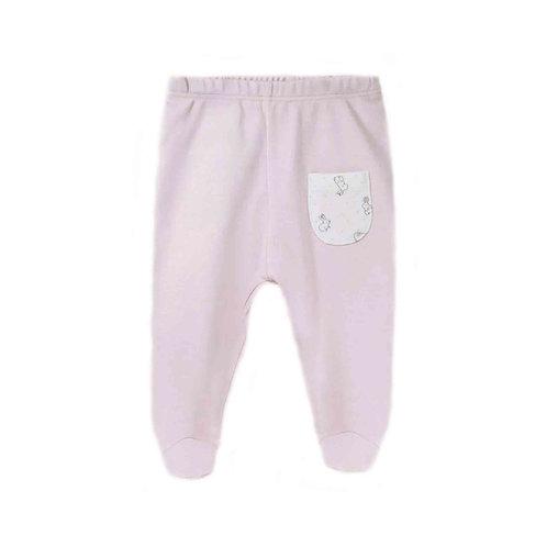Organic cotton footed baby pants - Bunny girl