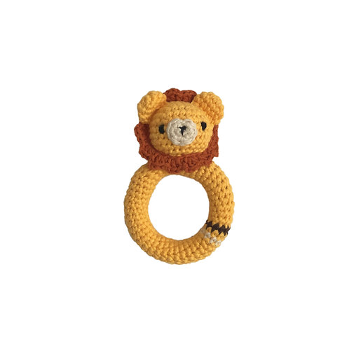 Organic cotton Amigurumi Lion Teether
