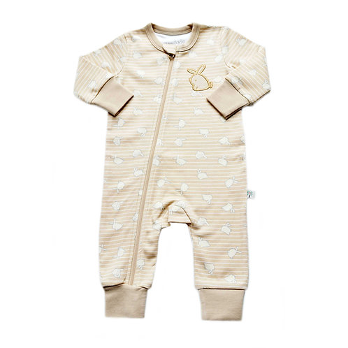 Organic Cotton Baby Jumpsuit Bunny