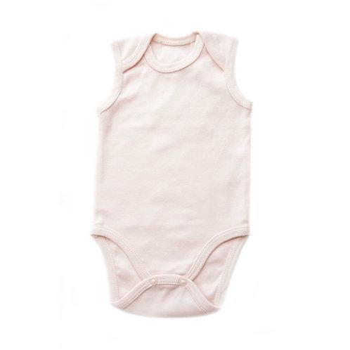 Body rosa cipria in cotone biologico per neonato