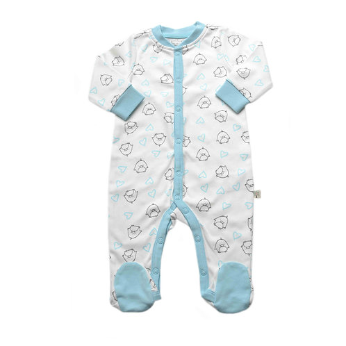 Organic Cotton Baby Footed Jumpsuit Penguin