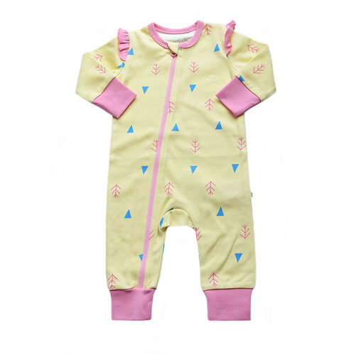 Organic Cotton Baby Jumpsuit Nature