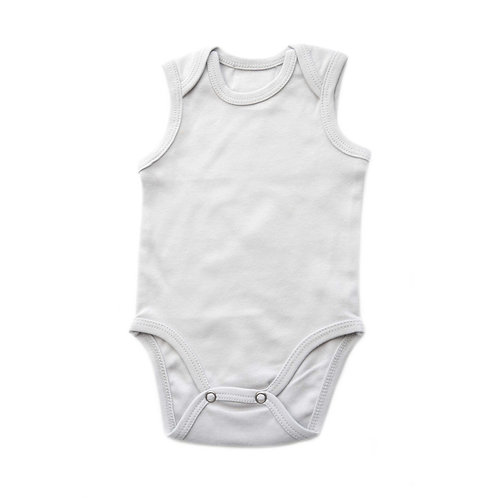 Organic Cotton Baby Bodysuit Gray