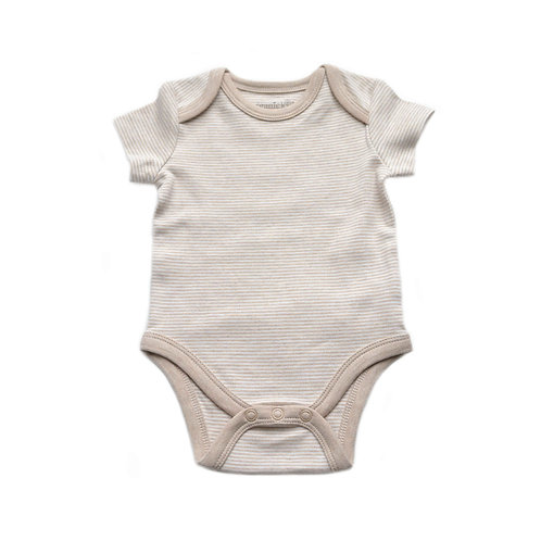 Organic Cotton Baby Bodysuit Biscuit