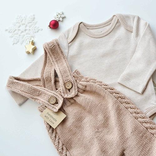 Organic Cotton Bodysuit & Handmade jumper set