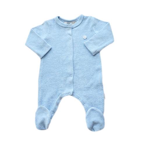 Organic Cotton Baby Jumpsuit Blue