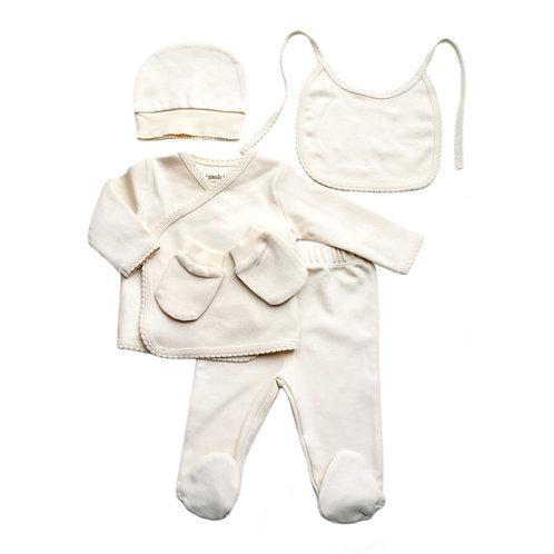 Organic Cotton Baby Newborn Coming Home Set Natural