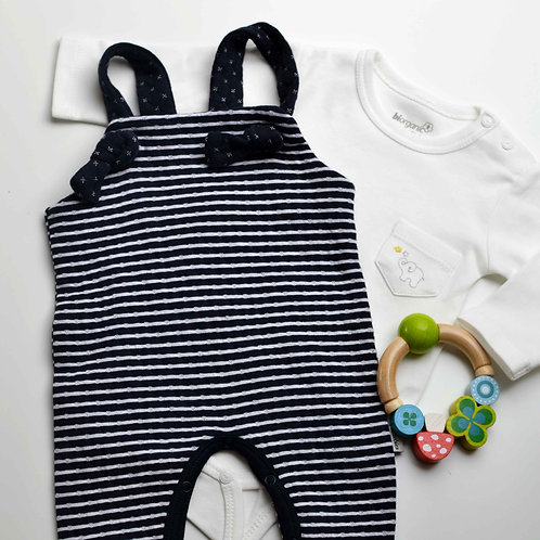 Organic Cotton Double Sided Baby Romper & Bodysuit Set