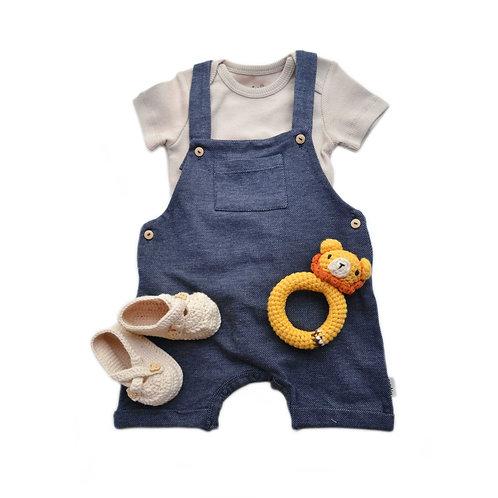 Organic Cotton Denim Baby Jumper & Bodysuit