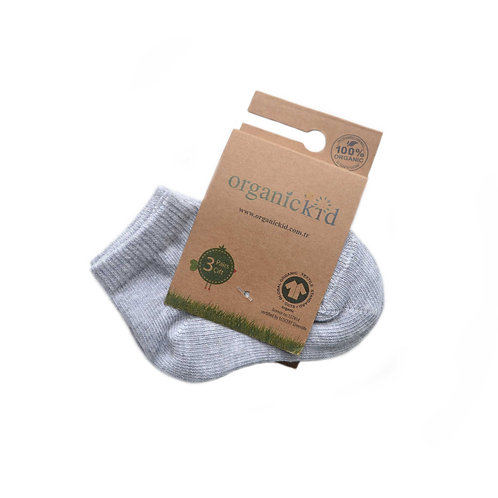 3-pack Organic Cotton Baby Socks Gray