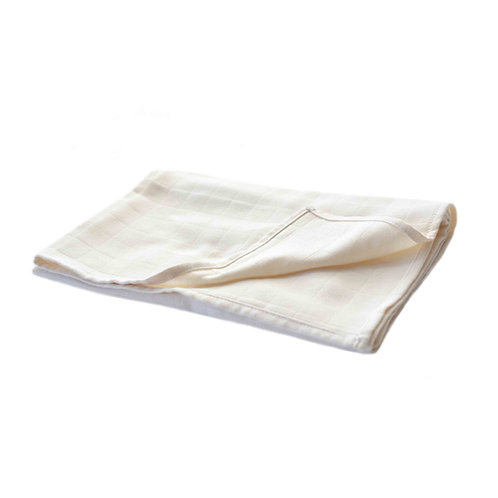 No-dye organic cotton muslin blanket