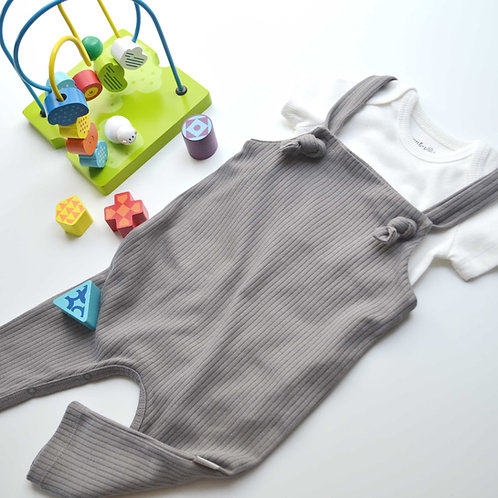 Organic Ribbed Cotton Baby Romper & Bodysuit