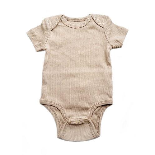 Body neonato in cotone biologico a coste Cosy Biscuit