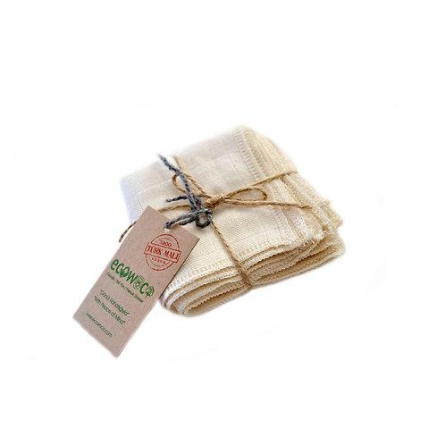 No-dye organic cotton muslin burp cloth set