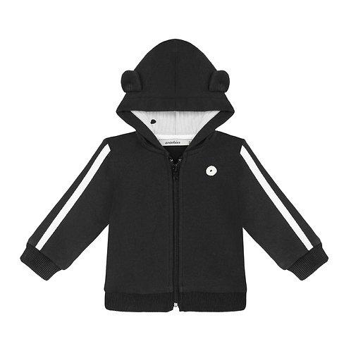 Organic cotton panda hooded jacket