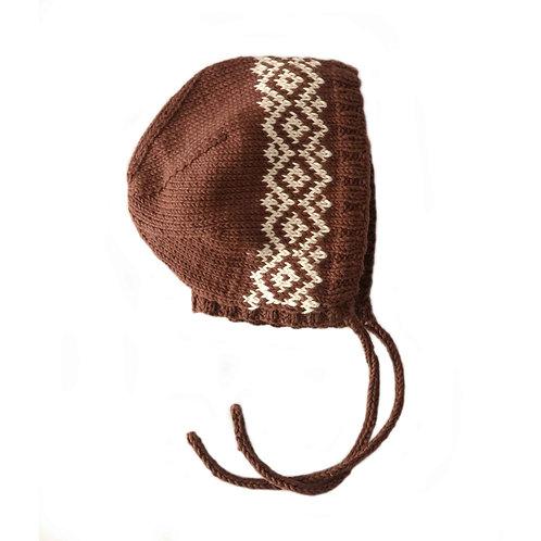Organic cotton macadamia bonnet