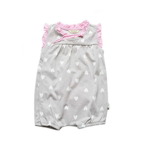 Organic Cotton Baby Capri Bodysuit Hearts