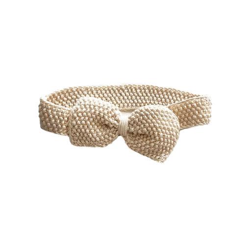 Organic cotton seed head band natural