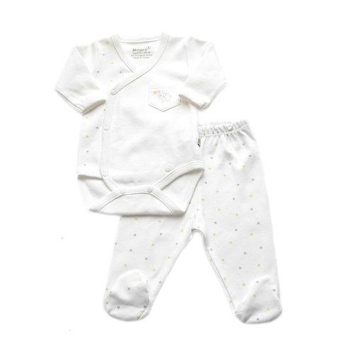 Organic Cotton Baby Bodysuit & Pants Elephant