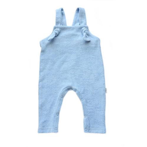 Salopette neonato blu in cotone biologico