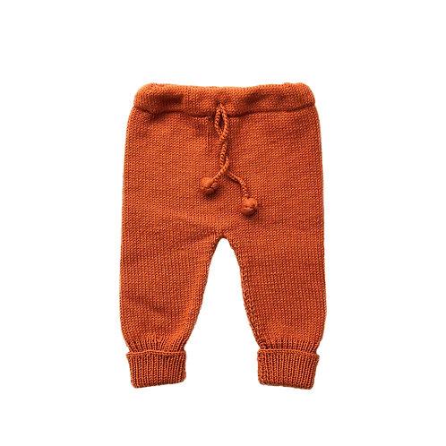 Organic cotton hand knit baby pants