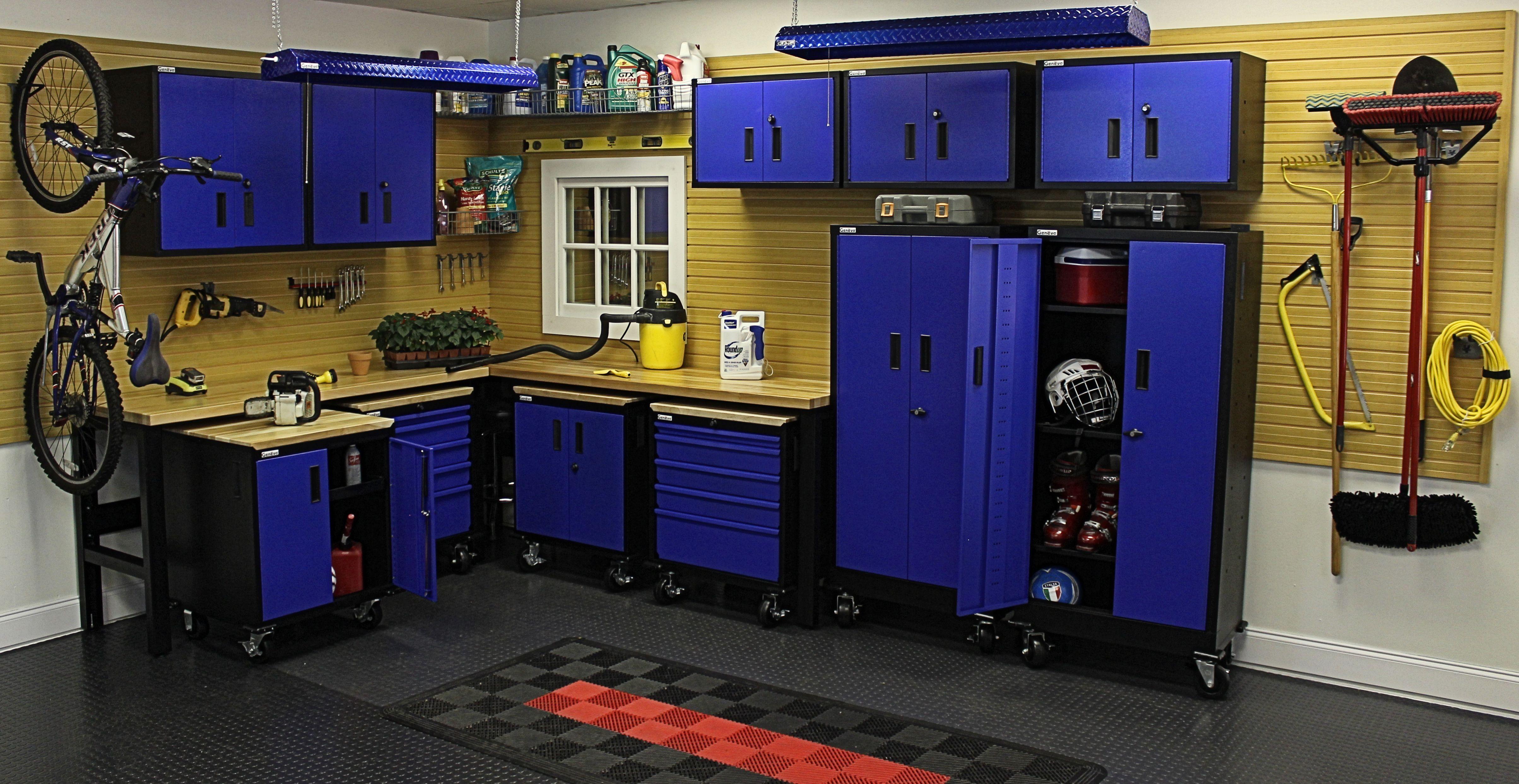Garage Organizing - Steel Blue