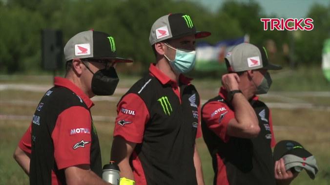 Qatari driver holds off the challenge of Carlos Sainz to claim victory.