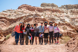 Women session riders shred iconic freeride venue in southern Utah.