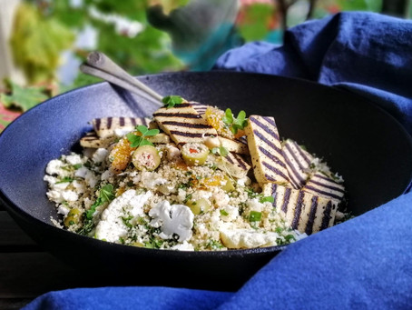 Sprouted Chickpea & Couscous Salad - The Veggie Tree