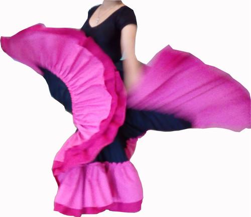 6ebcdc171 Falda Profesional de Danza Folclórica, doble olán y doble circular