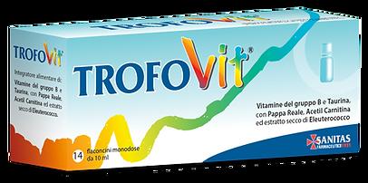 trofovit, integratori, farmacia, pappa reale, carnitina, taurina, eleuterococco, vitamina B, vitamine, bambini, energetico