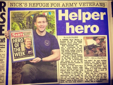 Nick recognised as The Sun's Hero of the Week!