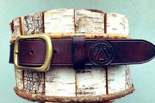 Handmade leather HVB embossed belt