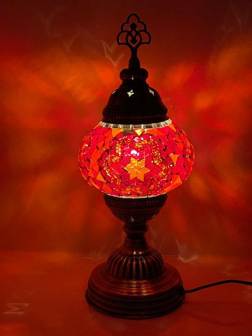 Orange Colour Turkish Moroccan Table Lamp