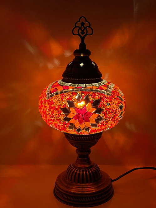 Large Red Colour Turkish Moroccan Table Lamp