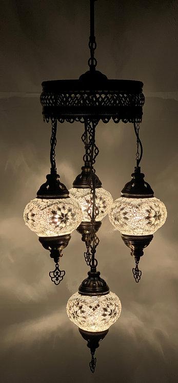 Turkish Chandelier in Clear Glass