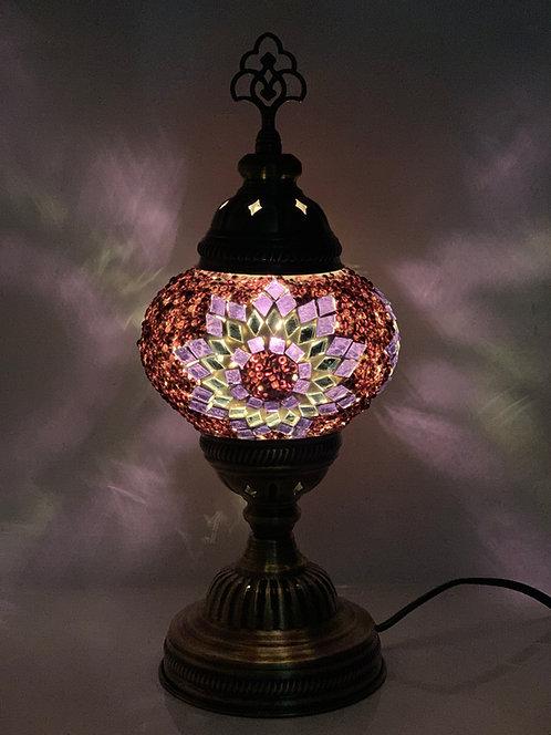 Purple Turkish Table Lamp Star Design