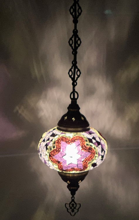 Turkish Chandelier with Single Large Glass