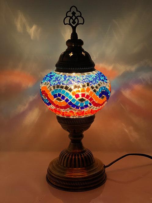 Multicoloured Turkish Moroccan Table Lamp Spiral Design