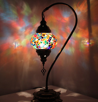 Multicolour Swan Neck Table Lamp