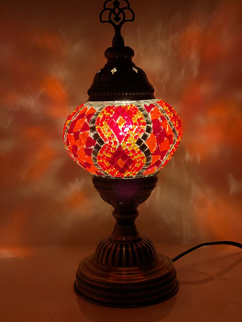 Red Colour Table Lamp Spiral Design