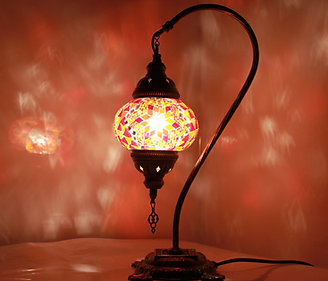 Red Colour Swan Neck Table Lamp