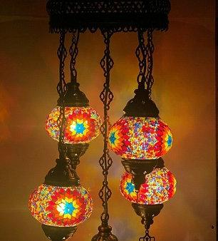 Turkish Chandelier in Multicolour