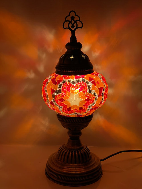 Red Colour Table Lamp Star Design