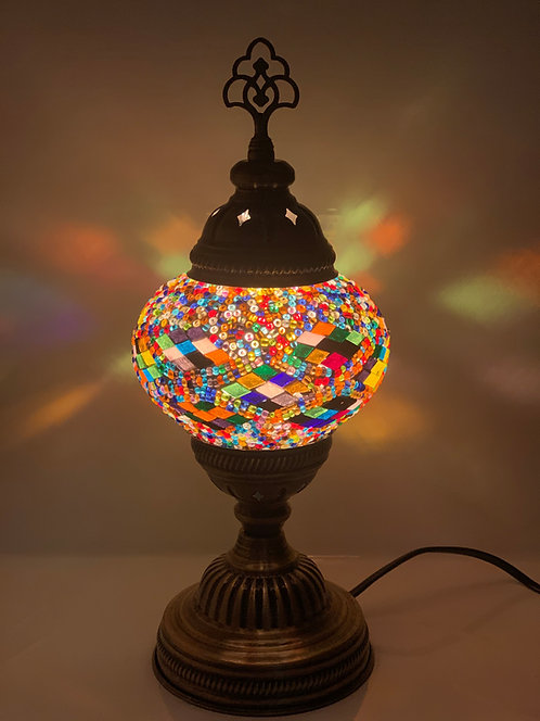 Multicoloured Turkish Moroccan Table Lamp DES01