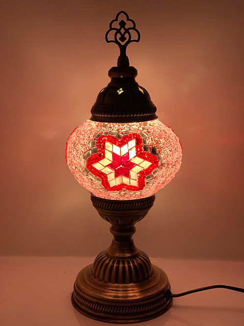 Pink Colour Turkish Moroccan Table Lamp