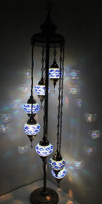 Blue Colour 7 Glass Floor Lamp